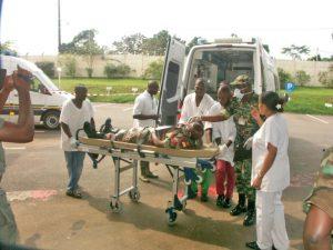 Exercice médecine de catastrophe avec participation de l'HIA OBO qui a activé son plan blanc Enseignant : MCDT Igoho Christelle